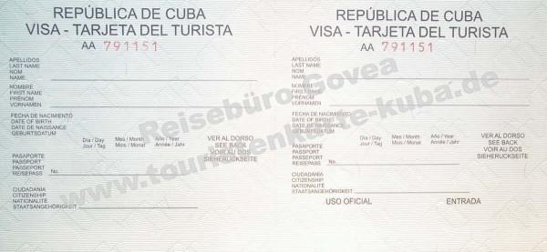 Touristenkarte Cuba